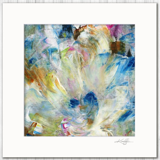 Poetic Escape 5 - Abstract Floral Painting by Kathy Morton Stanion