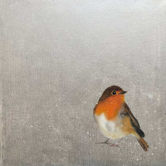 Little Robin ~ on silver