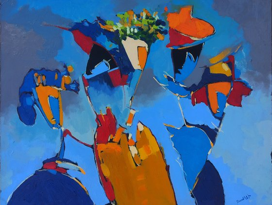 Abstract - Spring(55x70cm, oil painting, ready to hang)
