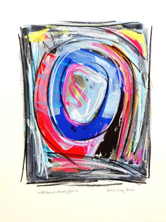"""""""Round Midnight"""" - Gouache auf Bütten - 50 x 65 cm"""