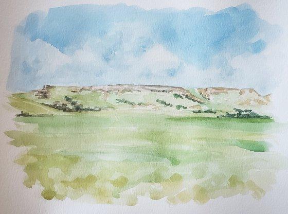 """Sentinel on the Prairie"" - Landscape - North Dakota"