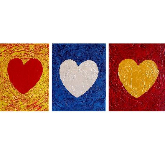 """Three of Hearts 54 x 24 """""""
