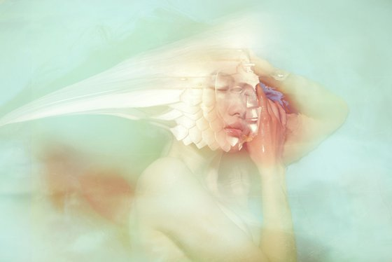 Just Close Your Eyes - By TOMAAS prints under acrylic glass for sale