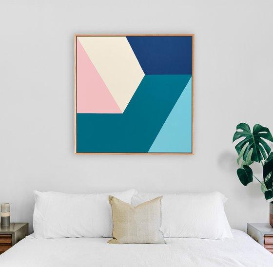 Fragment (Geometric Acrylic Painting)