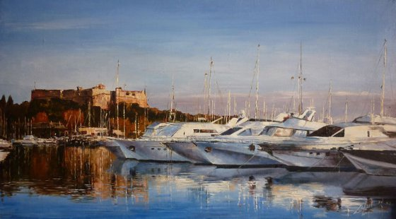 Corsica - Yachts in the Harbour, Evening.