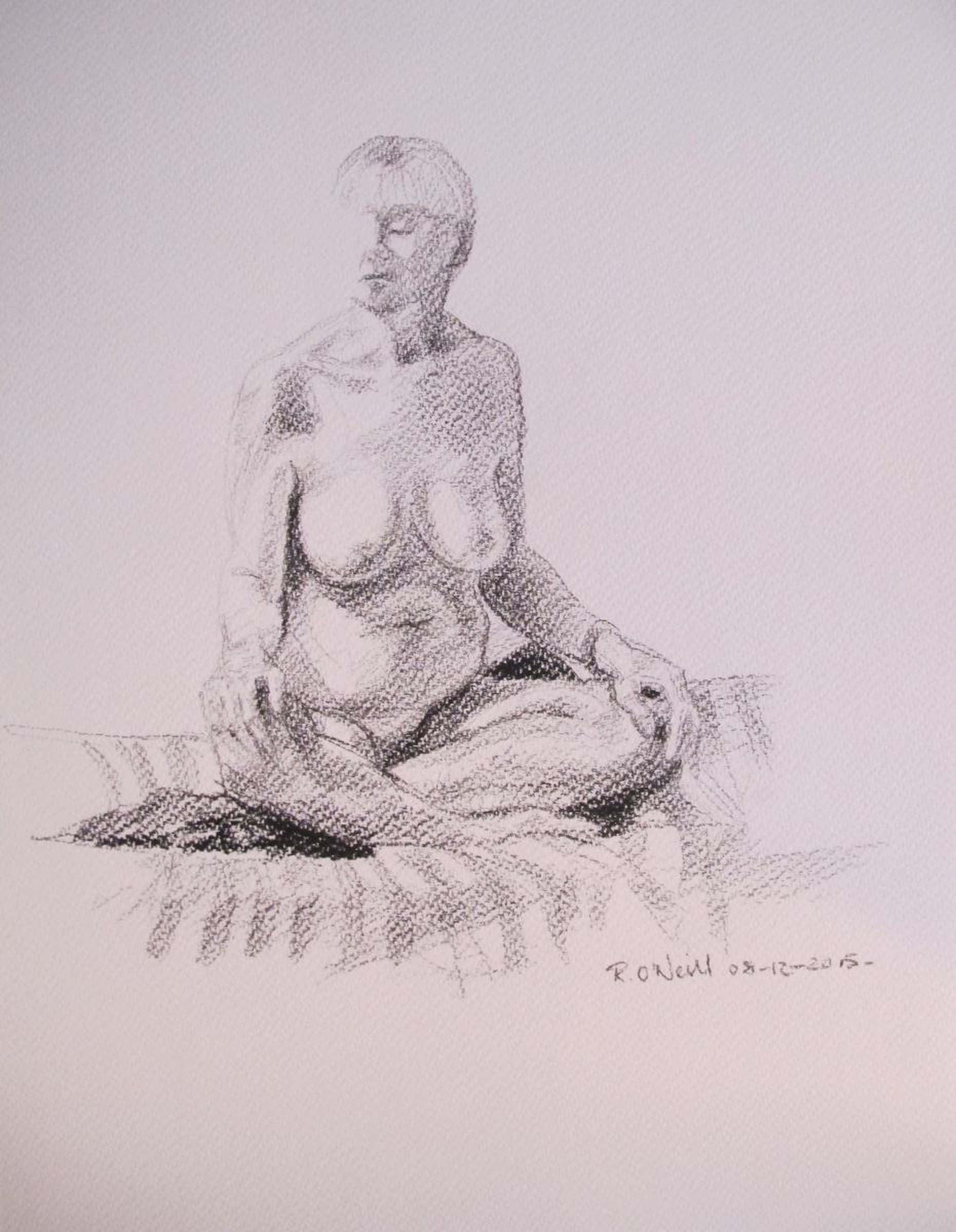 Female Nude Pencil Drawing By Rory O Neill Artfinder