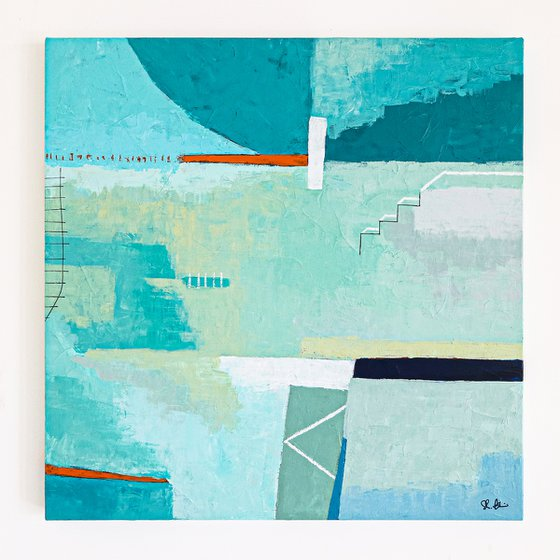 """Abstract Painting - Daydream of Friday (Original, 30""""x30""""   76x76 cm)"""