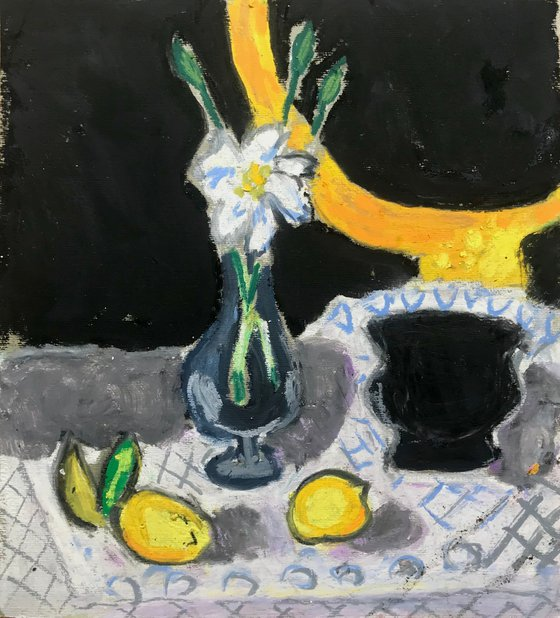 Mirror, Flower And Lemon