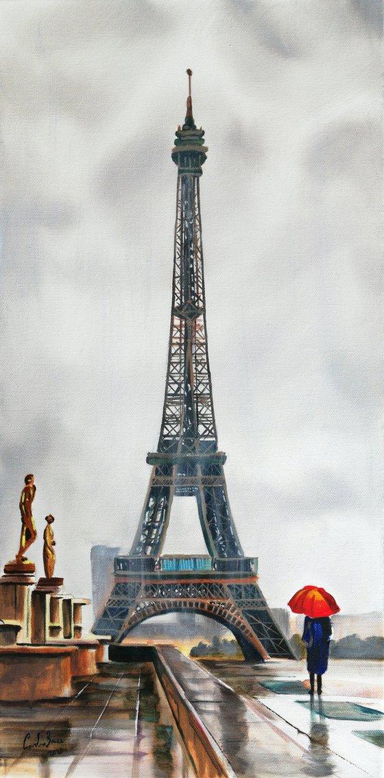 Rain at the Eiffel Tower