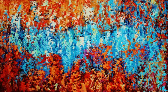 Abstract,red,yellow,blue,orange,red christmas sale was 700 USD now 445 USD.