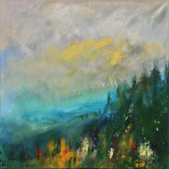 Early Light 5 - Acrylic painting, 50 x 50cm