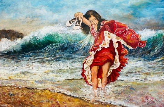 Bailando con las olas