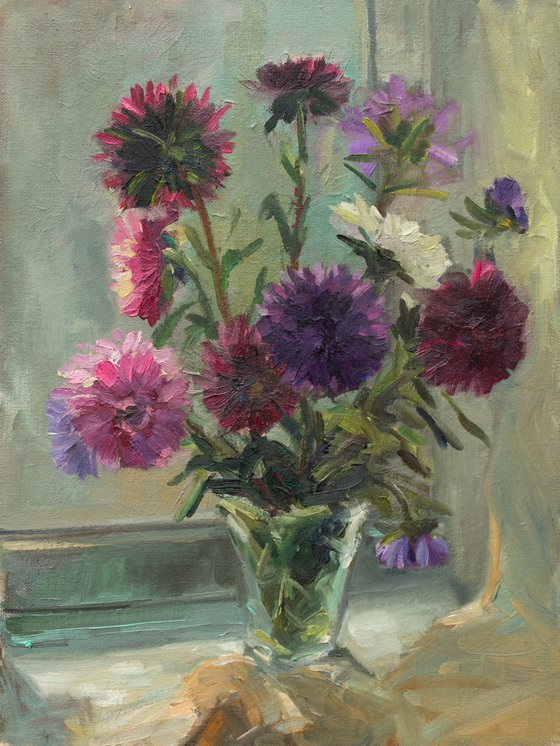 Asters on the window