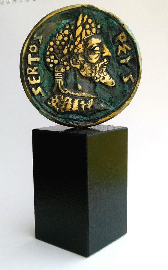 Wall Plaque Coin Bronze Sculpture Rustic Decor