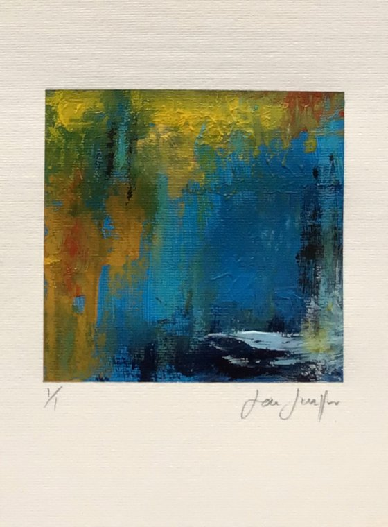 Colour Fuse 3 (Blue) -small abstract painting