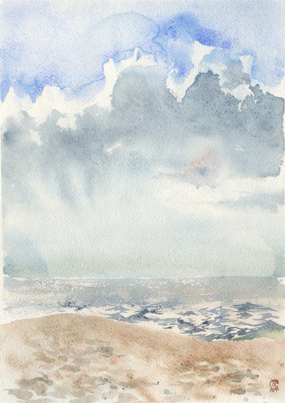 Sea & clouds.