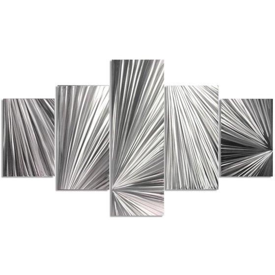 Columnar Light by Helena Martin - Original Abstract Metal Art on Metal
