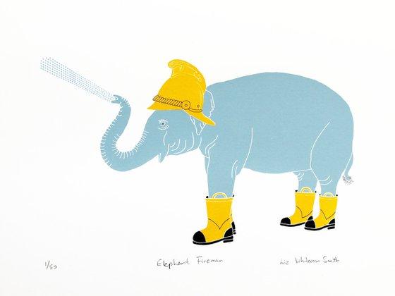 Elephant fireman