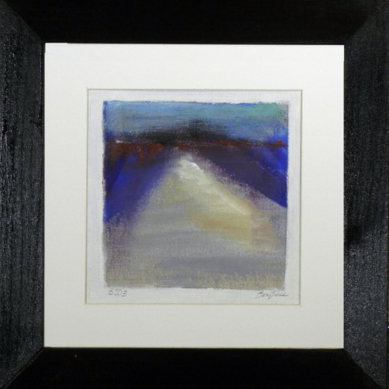 Small Framed Abstract Original Painting BJ02 by BenWill