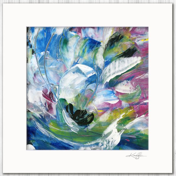 Poetic Escape 3 - Abstract Floral Painting by Kathy Morton Stanion