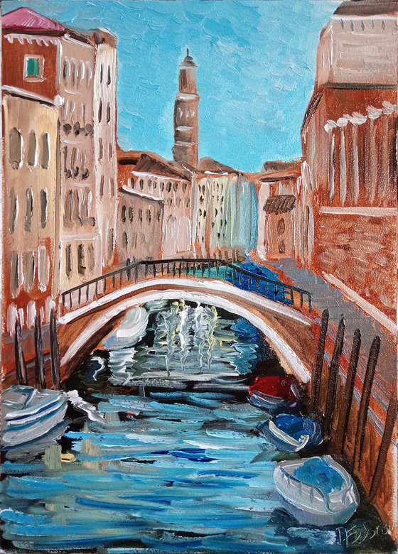 One of the many Venetian canals
