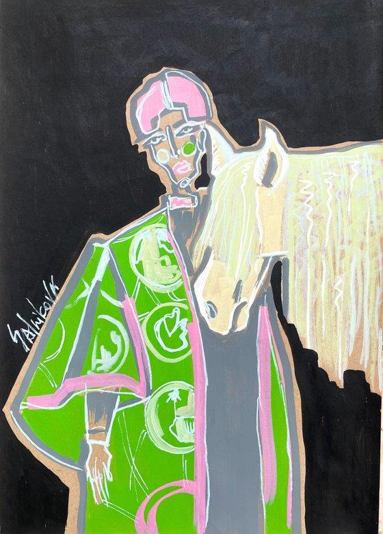 Fashion green&pink set (set 10 artworks)
