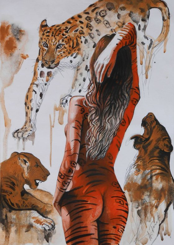 Wild Cats and Nude Drawing