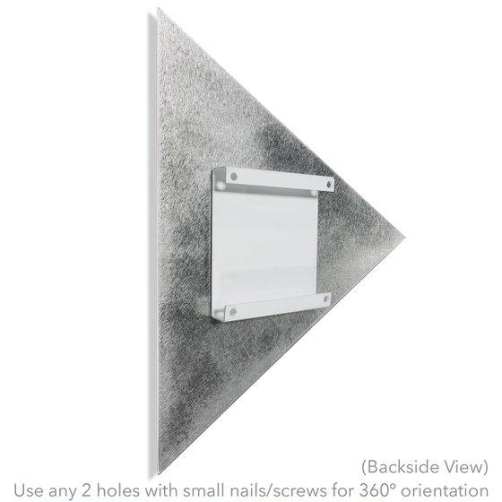Folded Diamond by Helena Martin - Modern Wall Decor on Metal