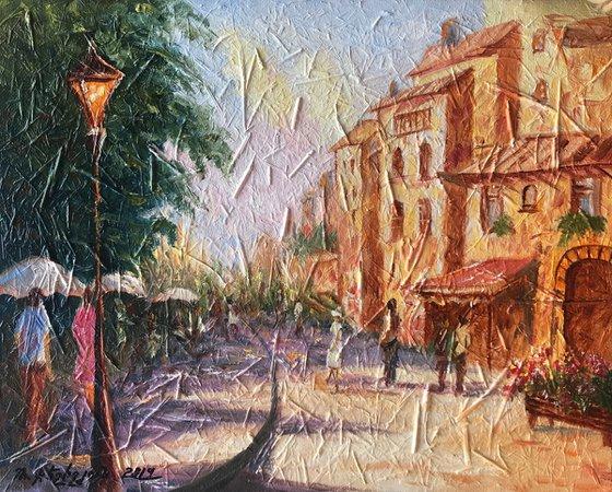 Cityscape (40x50cm, oil painting, impressionistic)