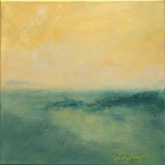 Illuminate I - original abstract coastal painting