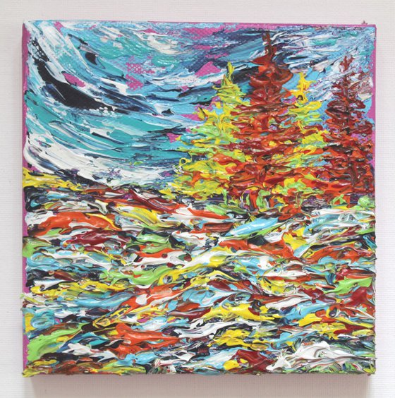 We Always Love You- Original Acrylic Palette Knife Textured Painting on Stretched Canvas HomeDecor Wallart Lake