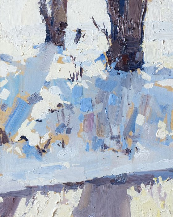 winter painting (shine and shadows)