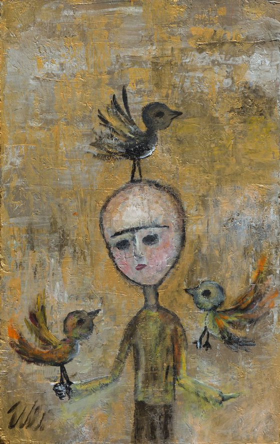 St. Francis of Assisi as a child with birds