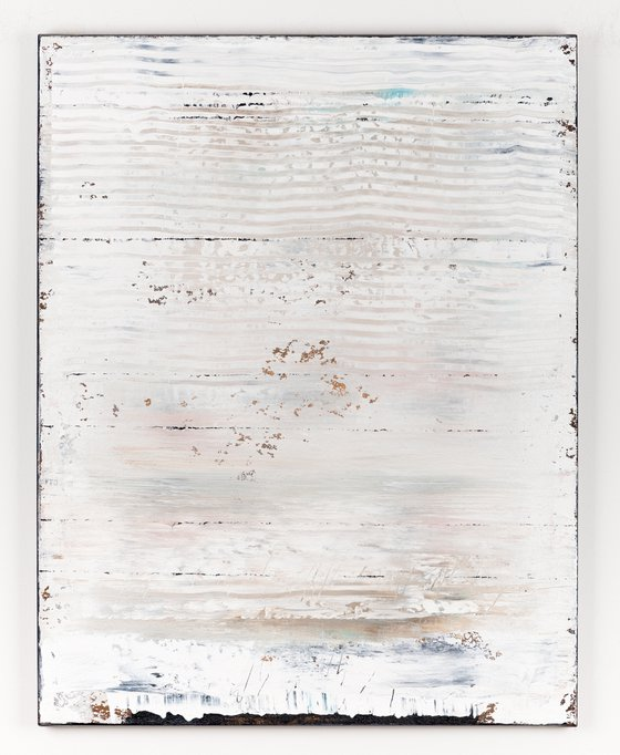 White abstract painting WP419