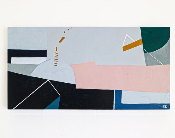 "Abstract Painting - Kafkaesque I (Original, 48""x24""   121x60 cm)"