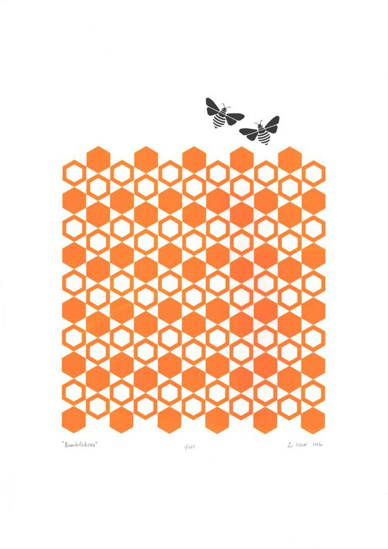 Bumblebees - Unframed - FREE Worldwide Delivery