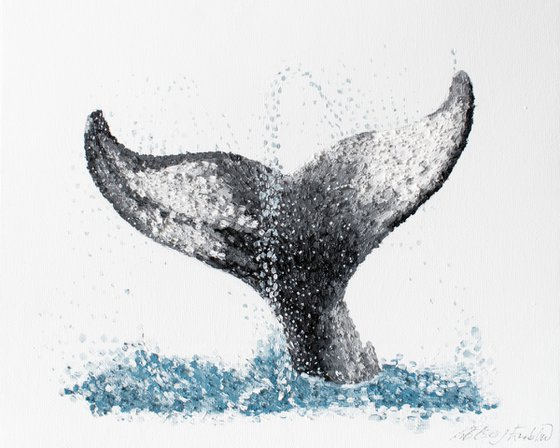 """Whale Tale Oil Painting """"Euphoria"""""""