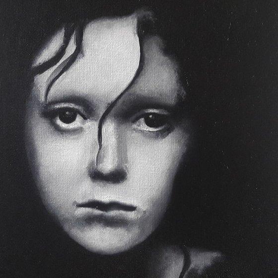 20cm x 20cm Contemporary Portrait Ref# 197