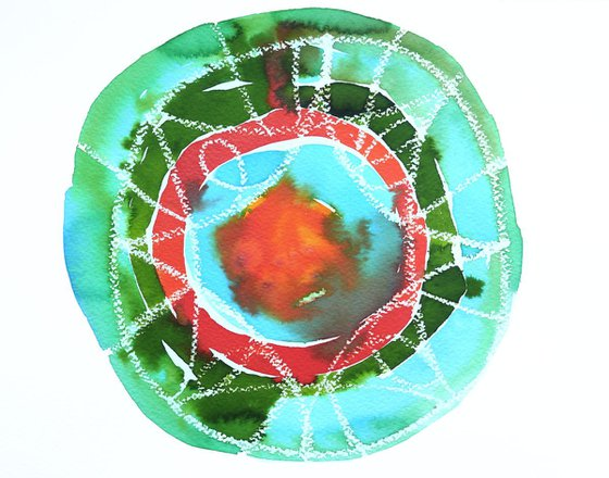 Abstract Mandala Painting