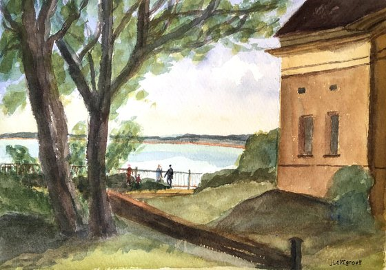 View across the Bay - An original watercolour painting
