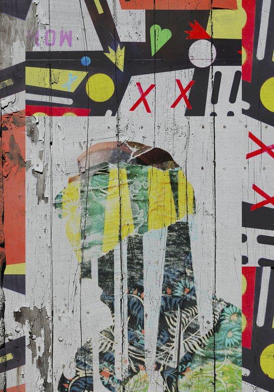 "Face art collection ""Fedbergsun"" - Vol 31. Art portrait on canvas"
