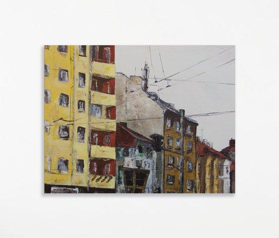 """Bul. Vasil Levski & Count Ignatiev Street"" - 65x80cm - Artwork"