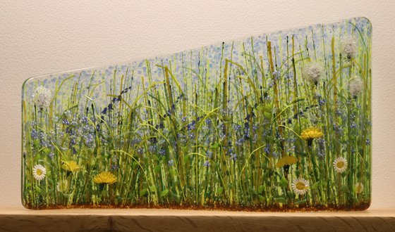 Glass Forget-Me-Not Asyemmetric Curve (Made to Order)