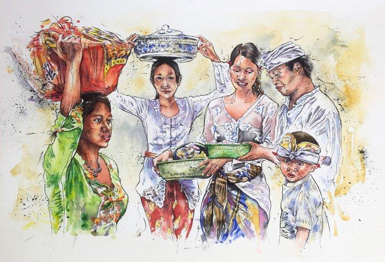 Results For Bali In Watercolor In Art Artfinder