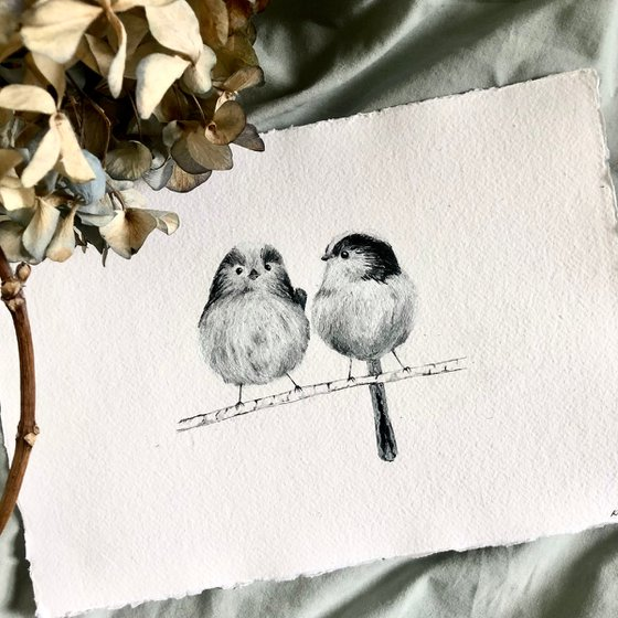 Long-Tailed Tit Couple