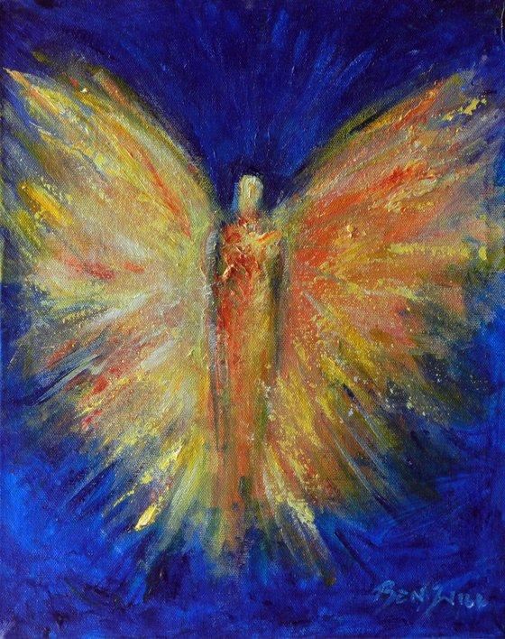 Original Painting Modern Abstract Angel BELOVED SPIRIT Fine Art by BenWill