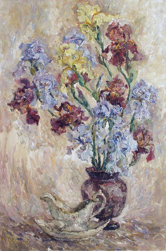 Multicolored irises