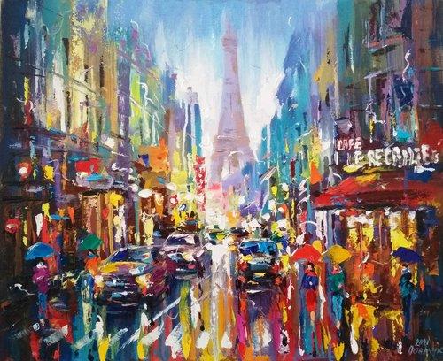 Abstract cityscape (Paris)01