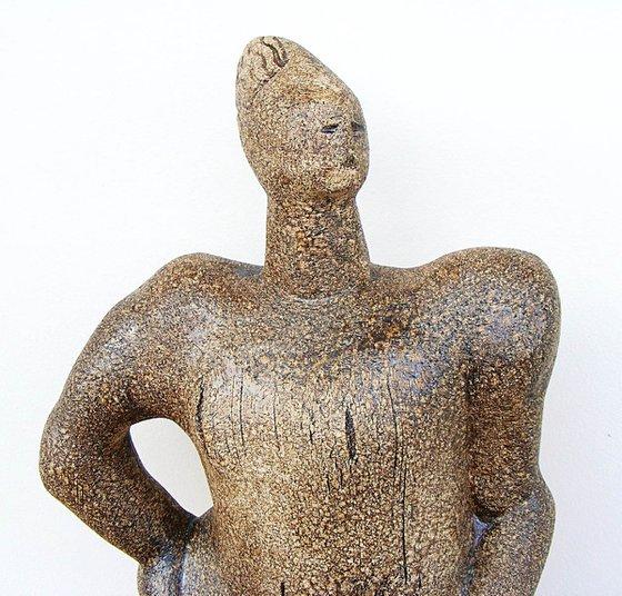 Norse Deity - Helmwige, a Valkyrie - Ceramic Sculpture