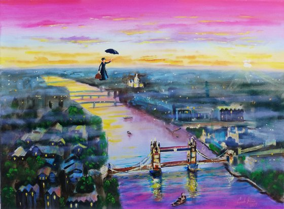 """Mary Poppins London """"Up to the highest height"""""""
